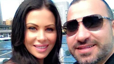 Caitlin Hall with her husband, convicted drug boss Michael Ibrahim.