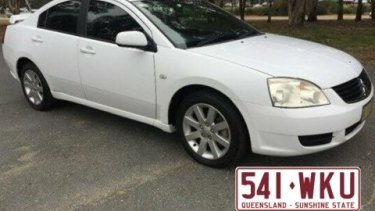 Police believe the pair are travelling in a white 2006 Mitsubishi 380 sedan with Queensland registration 541 WKU.