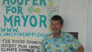 """Rockhampton mayoral candidate Chris """"Pineapple"""" Hooper has a shop on East Street that is used as a community centre."""