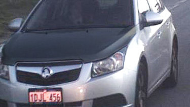 A shooter is on the run in Perth in this vehicle, which has now got a black bonnet and boot.
