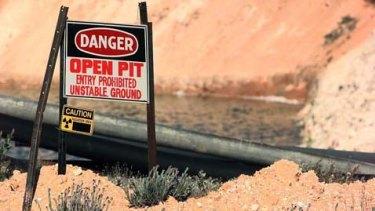 The WMC Uranium slots at Yeelirrie in the eastern goldfields of Western Australia.