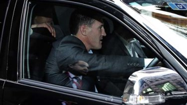 Difficult days: Paul Gallen departs 1 Bligh St, Sydney after meeting with his lawyers in relation to the ASADA investigation in August 2014.