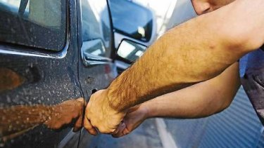 The young Logan man was allegedly interrupted mid-theft and stole a car with a tracking device. (File image)