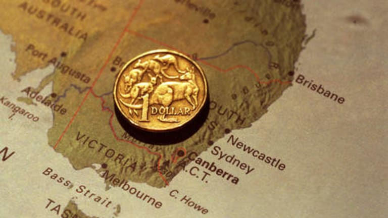 The Aussie dollar is suffering as investors worry the political Hunger Games in Canberra will lead to policy paralysis.