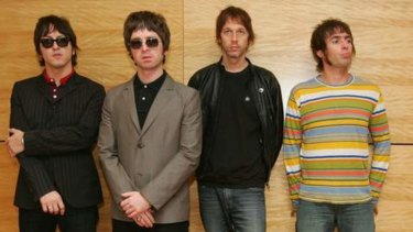 Bass guitarist Andy Bell in Oasis (second right) with fellow band members in 2006.