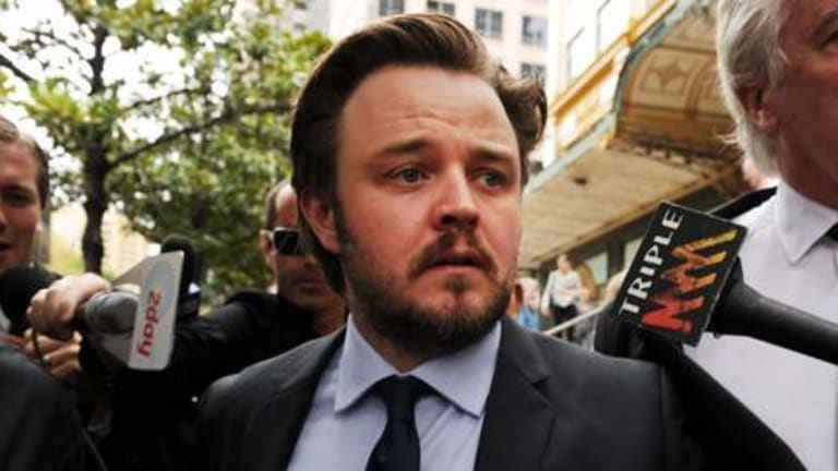 Matthew Newton leaves court in 2011 after breaching the apprehended violence order taken out by then-girlfriend Rachael Taylor.