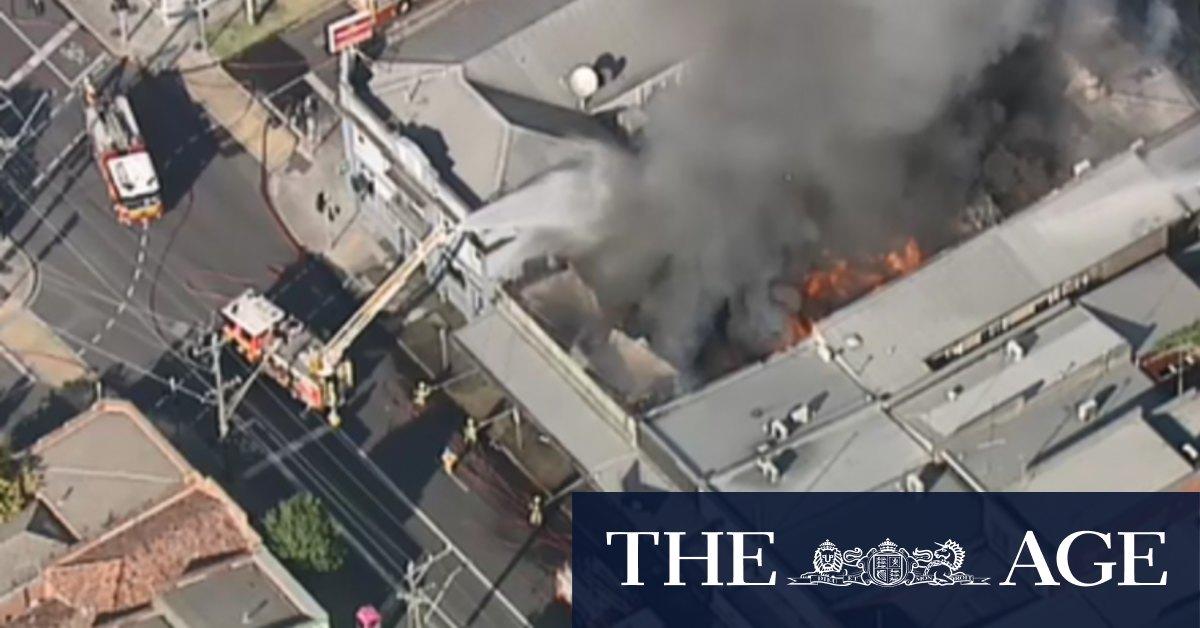 Fire crews battle factory blaze in Preston