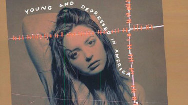 Wurtzel on the cover of her seminal 1994 memoir, Prozac Nation.