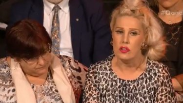 Krissi Grant (right) asked a poignant question about suicide on Monday's Q&A.