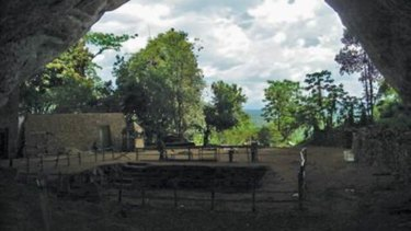 Fa Hien cave in Sri Lanka where researchers have found evidence of human habitation 45,000 years ago.