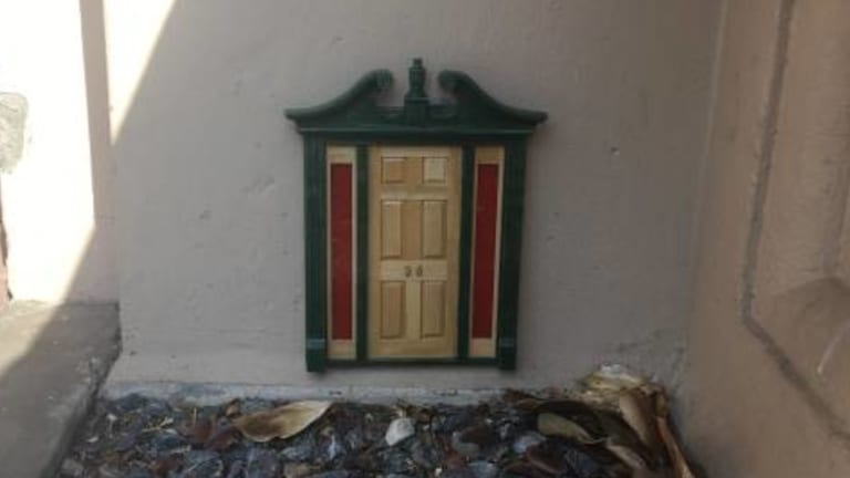 Another of the tiny doors.