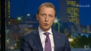 Liberal Senator James Paterson was asked about unflattering portrayals of Prime Minister Scott Morrison.
