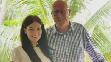Ashleigh Petrie with Rodney Higgins.