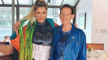 Geoffrey Edelsten and Gabi Grecko reunited in Los Angeles on Sunday, two and a half years after they split.