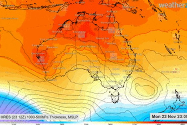 Spring will end with some severe heatwave conditions sweeping eastwards.