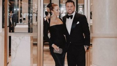 Jaime Belle and husband James Kennedy ahead of AFL's night of nights.