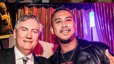 DJ and nightclub promoter William Cabantog pictured with Eddie McGuire.