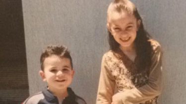 A treasured family photo of Celeste Manno with her younger brother Alessandro.