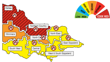 There is a 'code red' for the Mallee and Northern Country.