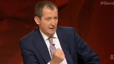 Alastair Campbell, former adviser to Tony Blair, onQ&A.