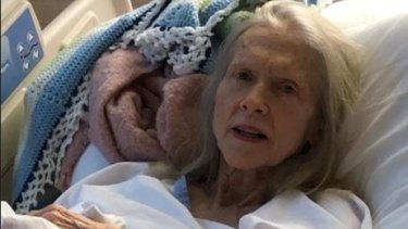 The elderly woman continues to receive treatment and regain her strength at Sunshine Coast University Hospital.
