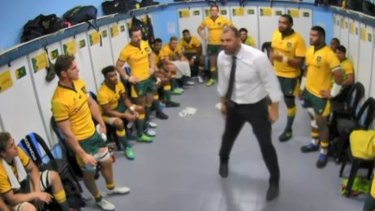 Passion: Castle praised coach Michael Cheika's connection to the team.