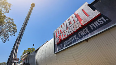 The Tower of Terror II at Dreamworld on the Gold Coast. Credit: Dreamworld website
