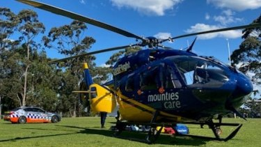 The Mounties CareCareFlight Helicopter was tasked to the incident around 1.30pm on Friday.