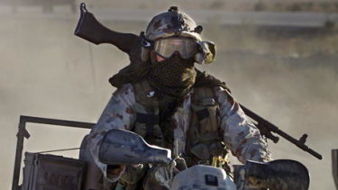 An SAS soldier.