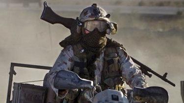 An SAS soldier.