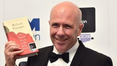 Richard Flanagan after winning the Man Booker Prize in 2014.