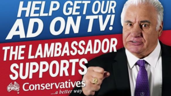 'Baa...gger off': Cory Bernardi in meaty stoush over 'lambassador' ad