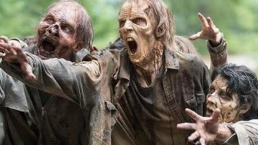AMC's The Walking Dead zombies helped inspire the simulations.