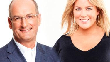 David Koch and Samantha Armytage.