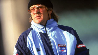 Tommy Raudonikis in his days coaching the NSW Blues.