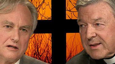 Richard Dawkins and Cardinal George Pell appeared on Q&A in 2012.