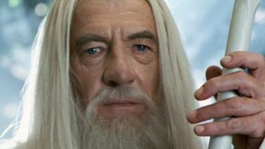 Ian McKellen as Gandalf in The Lord of the Rings.