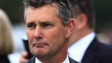 Disgraced trainer Darren Smith at Randwick in 2013.