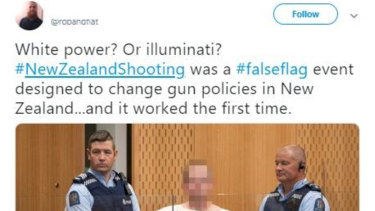 A tweet claiming the New Zealand mosque terror attack didn't occur.