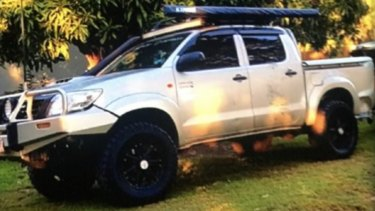 The silver-coloured Toyota Hilux dual-cab ute, stolen from Bracken Ridge in Brisbane's north.