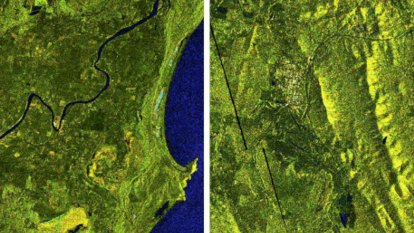 Before and after satellite imagery shows early impact of NSW floods