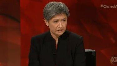 Senator Penny Wong on Q&A on Monday.