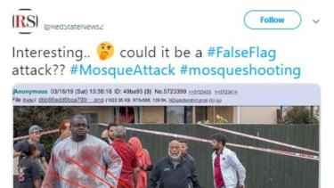 Tweets claiming the New Zealand mosque terror attack didn't occur.