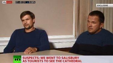 Ruslan Boshirov and Alexander Petrov during the bizarre interview.