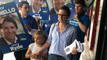 Karyn Laxale, wife of the Labor candidate for Ryde, said it hurt her as a mother to see how political campaigners behaved around children.