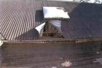 The roof of the pub where John Lindrea and his accomplice gained entry.