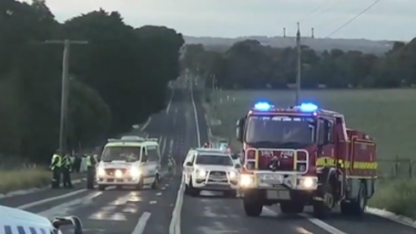 A man has died and another is fighting for life after a two-car crash on the South Gippsland Highway in Leongatha.