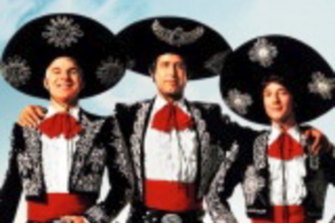 Steve Martin, Chevy Chase and Martin Short in The Three Amigos.