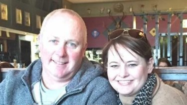 Dean, 50, and Shannon Sanderson, 48, were on holidays from Adelaide.