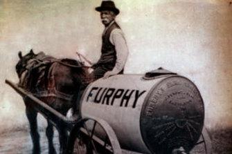 A Furphy water cart.